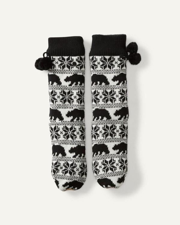0 Winter Bear Socks Slipper Socks Black JASOSBWI Billabong