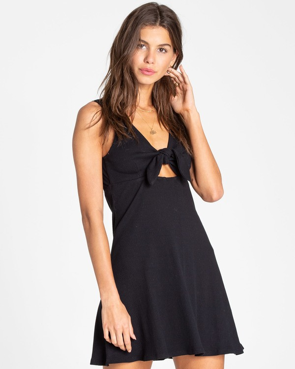 0 Hola Holiday Knit Dress Black JD14TBHO Billabong