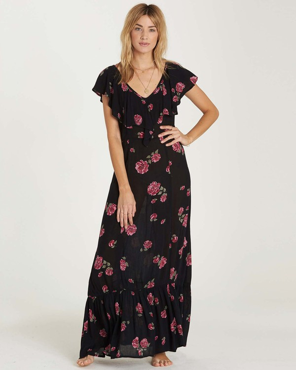 0 Southern Border Dress Black JD17MSOU Billabong
