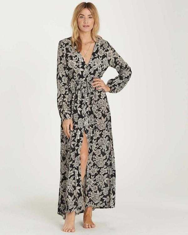 0 Allegra Kimono Dress Black JD22MALL Billabong