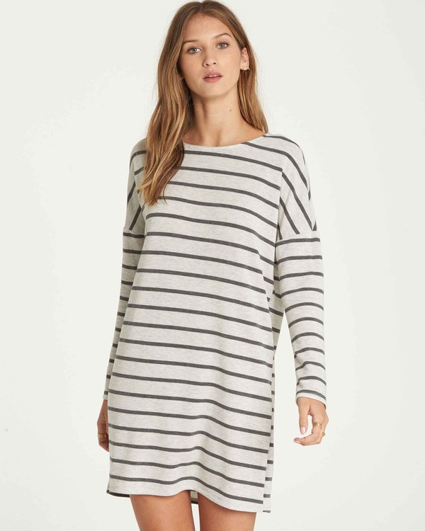 0 Simply Put Shirt Dress Grey JD22QBSI Billabong