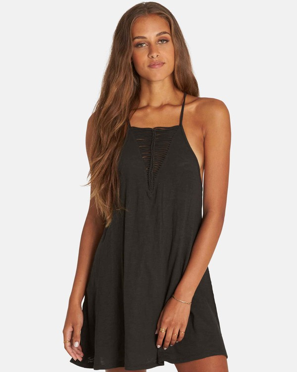 0 Ray Me Swing Mini Dress Black JD24PBRA Billabong