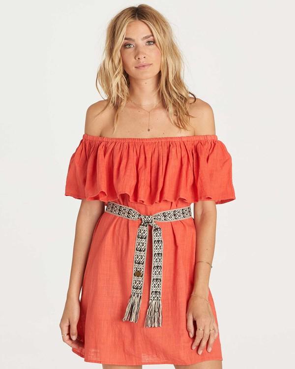 0 Mi Bonita Dress Red JD26KMIB Billabong