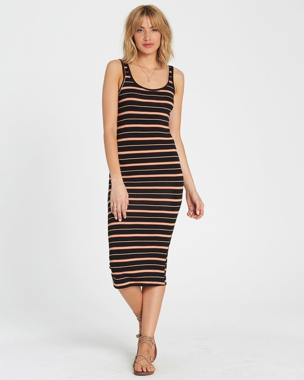 0 Share Joy Midi Bodycon Dress Brown JD30KSHA Billabong