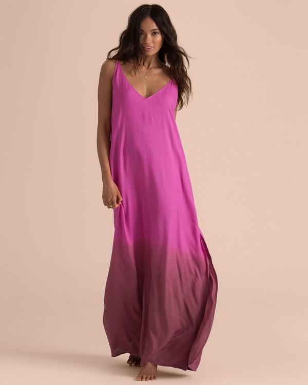 0 Sincerely Jules High Point Slip Maxi Dress Pink JD35TBHI Billabong