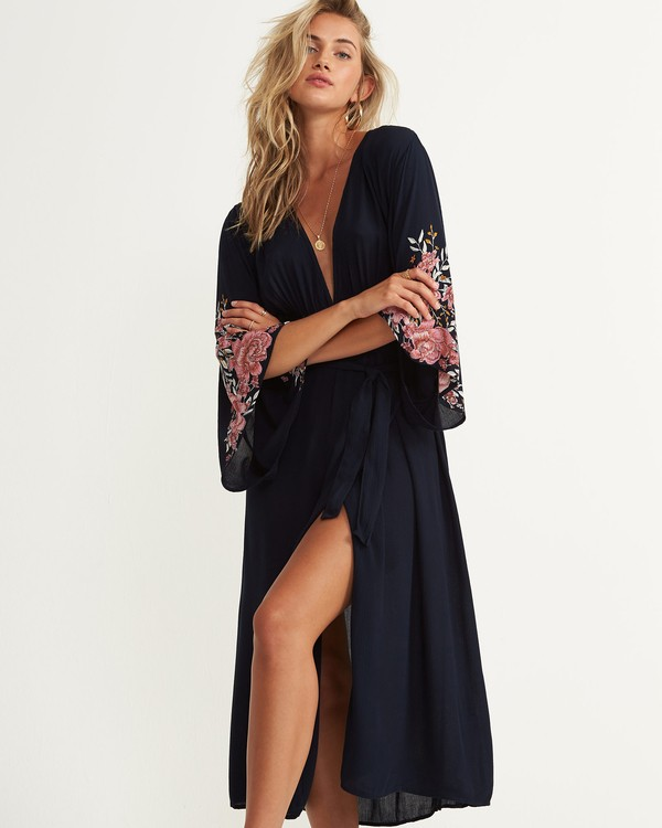 0 Robe Life Dress Blue JD54NBRO Billabong