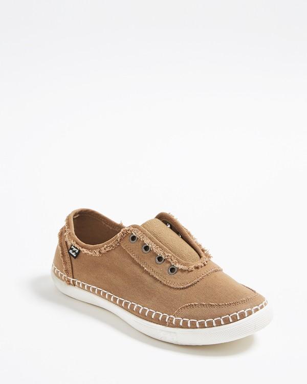 0 Cruiser Slip-On Canvas Shoes Brown JFCTTBCR Billabong