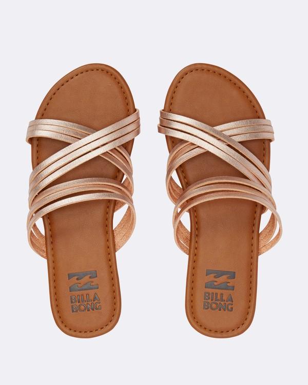 0 Sandy Toes Slide Sandal Pink JFOTPBSA Billabong