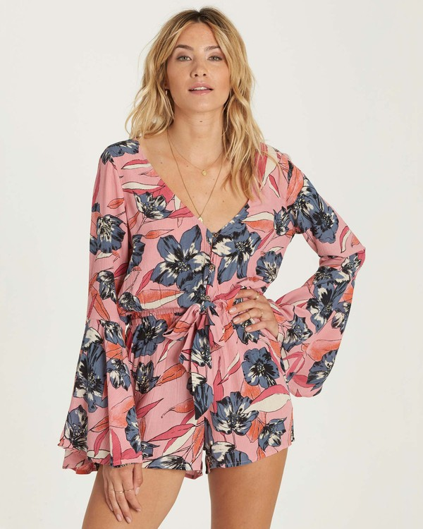 0 Sittin Pretty Romper Red JN01NBSI Billabong