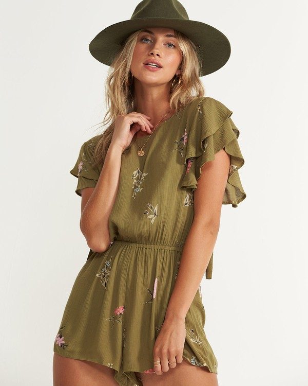 0 Heavenly Fields Romper Green JN01QBHE Billabong