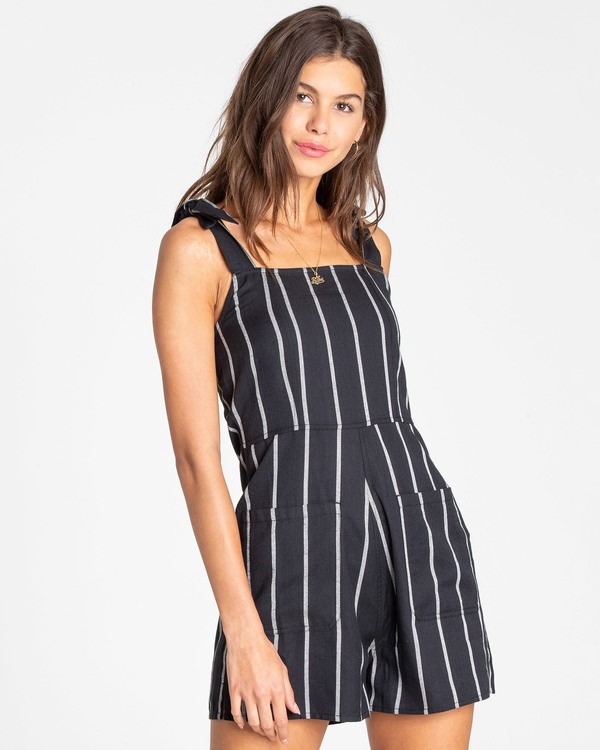 0 Jump Tide Sleeveless Romper Black JN02TBJU Billabong