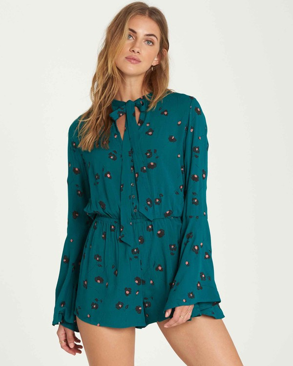 0 Standing Pretty Romper Green JN05QBST Billabong