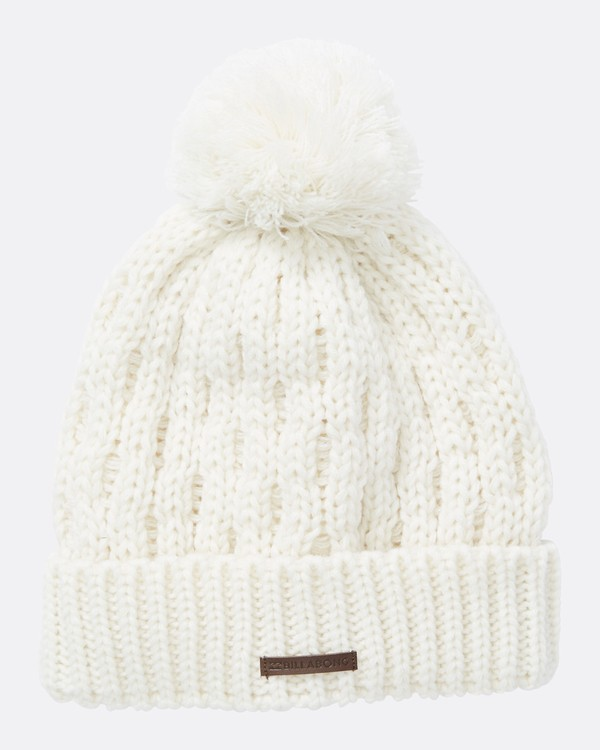 0 Women's Good Vibes Only Pom Pom Beanie White JSBNQGOO Billabong