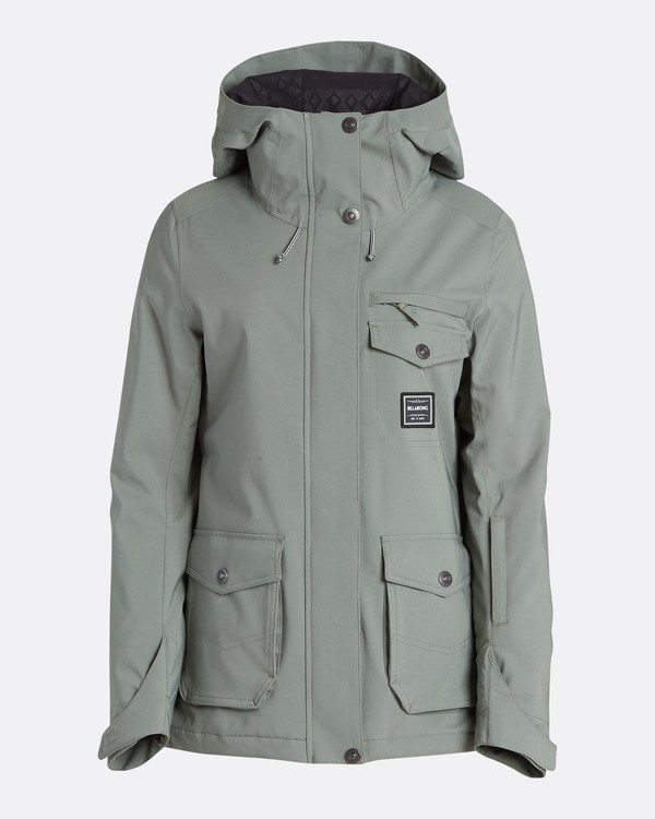 0 Women's Elodie Outerwear Jacket Green JSNJQELO Billabong
