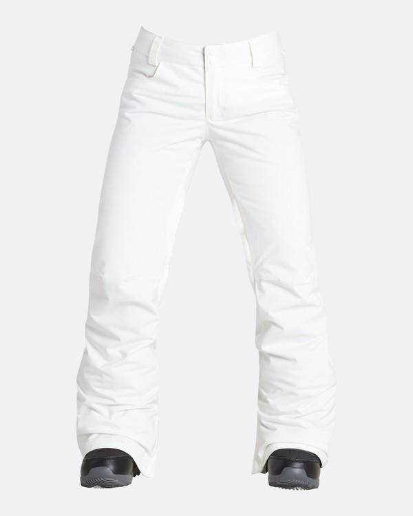 0 Women's Terry Slim Fit Outerwear Pants White JSNPQTER Billabong