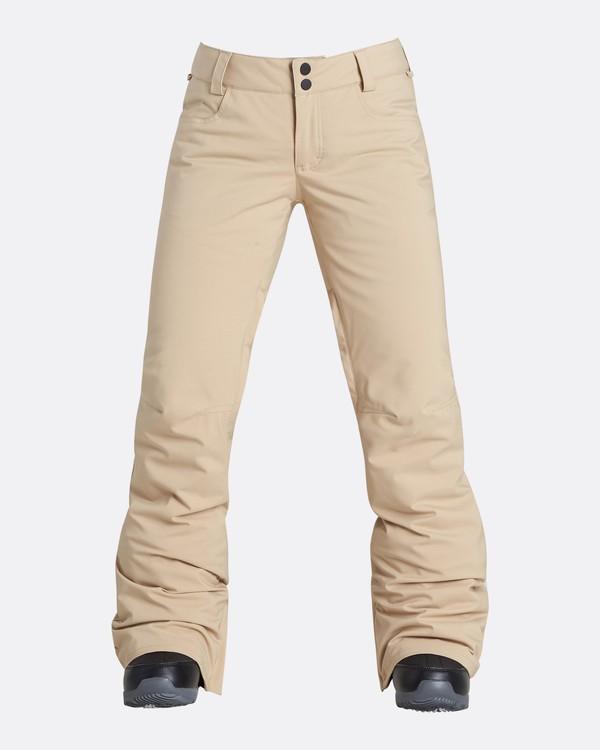 0 Women's Terry Slim Fit Outerwear Pants Beige JSNPQTER Billabong