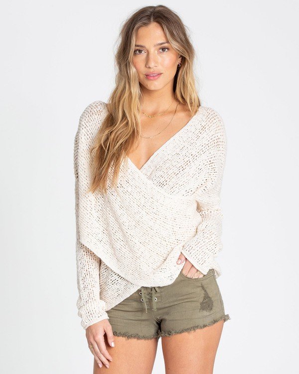 0 After Glow Wrap Sweater White JV01TBAF Billabong