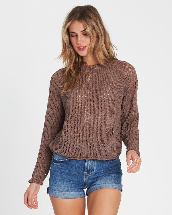 0 Sea Ya Soon Open Knit Sweater Beige JV06PBSE Billabong