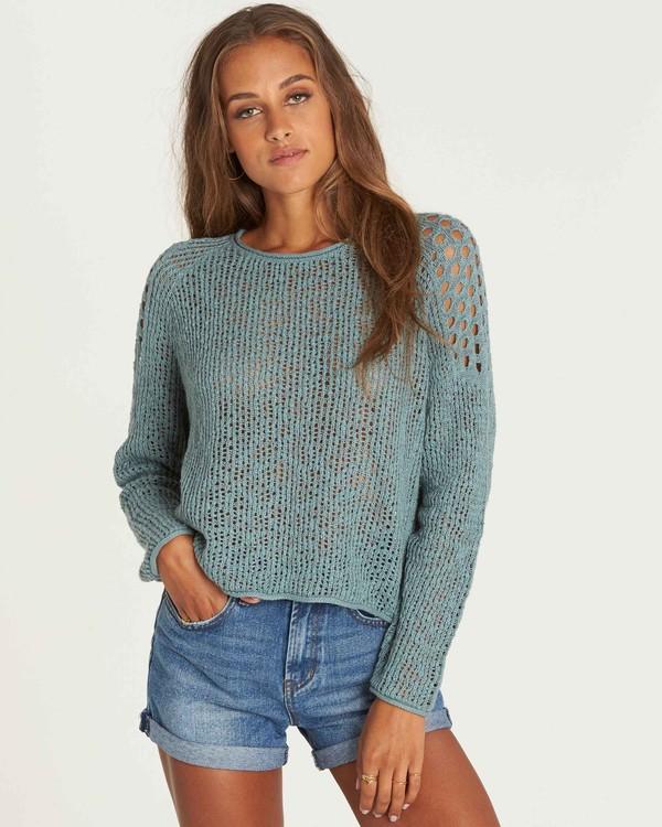 0 Sea Ya Soon Open Knit Sweater Green JV06PBSE Billabong
