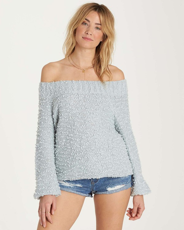 0 Furget Me Not Sweater Blue JV07MFUR Billabong
