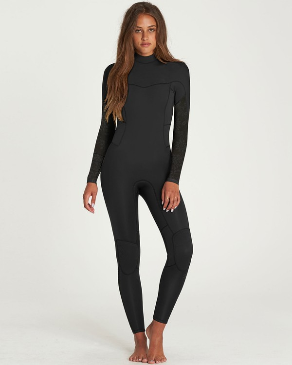 0 3/2 Synergy Back Zip Flatlock Fullsuit  JWFUNBF3 Billabong