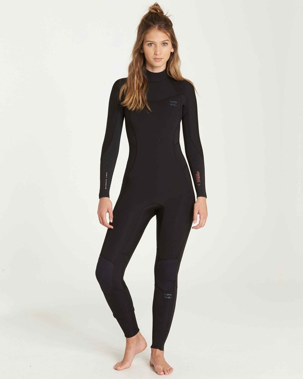 0 4/3 Furnace Synergy Back Zip Fullsuit Black JWFUQBB4 Billabong