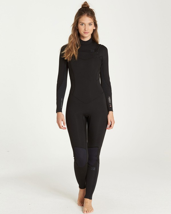 0 4/3 Furnace Synergy Chest Zip Fullsuit Black JWFUQBY4 Billabong