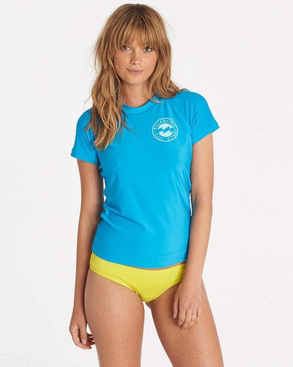 0 Core Performance Short Sleeve Rashguard Blue JWLYJCCS Billabong
