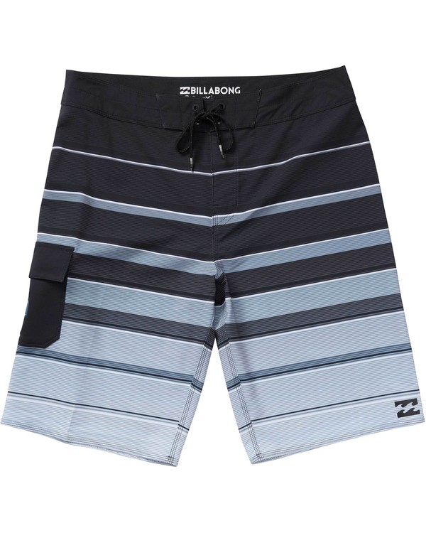 0 Boys' (2-7) All Day X Stripe Boardshorts Black K125NBAS Billabong