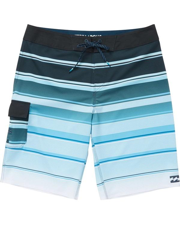 0 Boys' (2-7) All Day X Stripe Boardshorts Blue K125NBAS Billabong