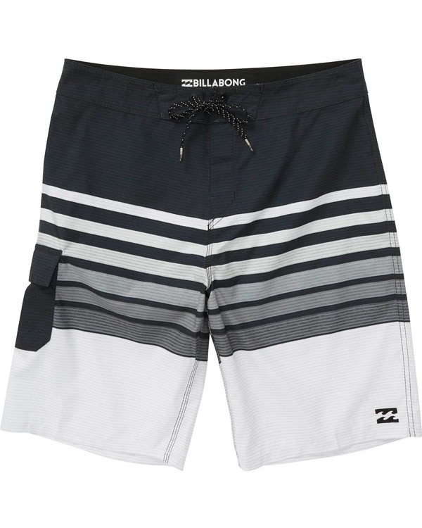 0 Boys' (2-7) All Day OG Stripe Boardshorts Black K165NBAS Billabong
