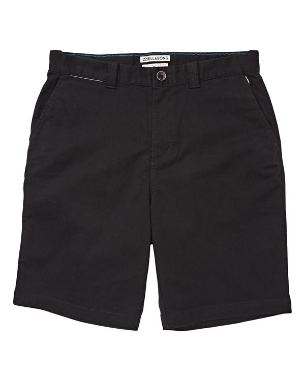 0 Boys' (2-7) Carter Stretch Shorts Black K236TBCS Billabong