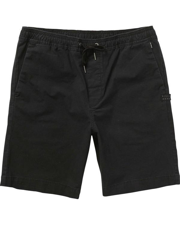 0 Boys' (2-7) Larry Layback Shorts Black K239TBLL Billabong