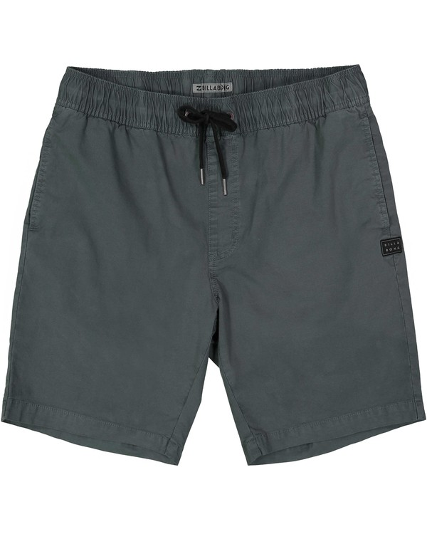0 Boys' (2-7) Larry Stretch Elastic Shorts Grey K244QBLS Billabong