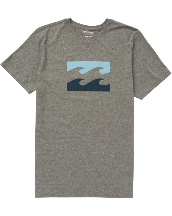 0 Boys' (2-7) Wave Tee Grey K401PBWA Billabong
