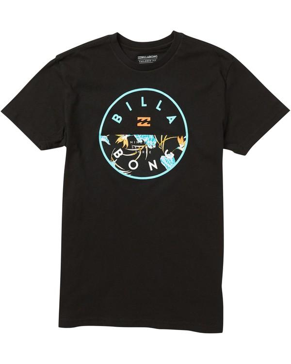 0 Kids' Rotor Fill Tee Shirt Black K401SBRO Billabong