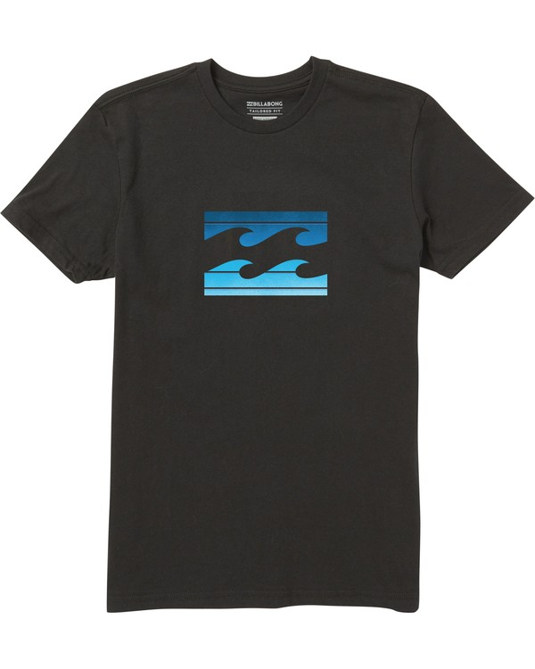 0 Kids' Team Wave Tee Shirt Black K401SBTE Billabong