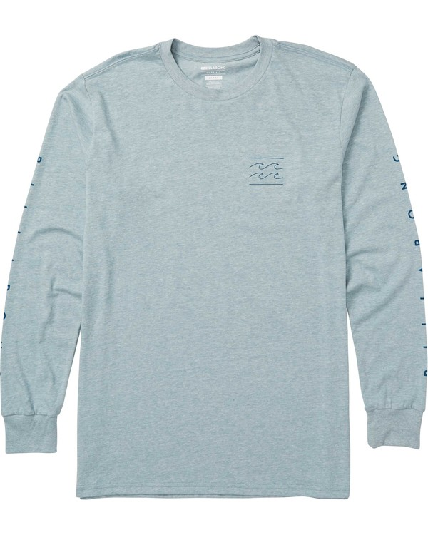 0 Kids' Unity Sleeves Long Sleeve Tee Shirt Blue K405SBUS Billabong