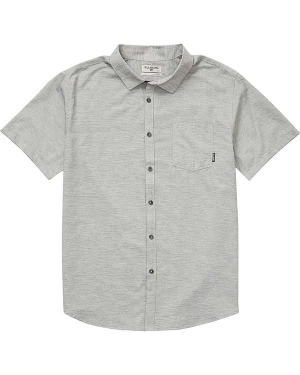 0 Boys' (2-7) All Day Helix Short Sleeve Shirt Grey K500NBAL Billabong