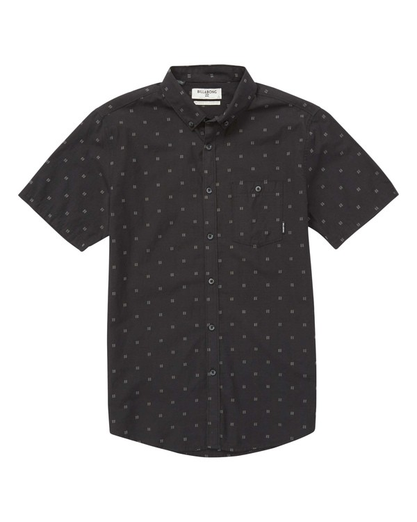 0 Boys' (2-7) All Day Jacquard Short Sleeve Shirt Black K507PBSJ Billabong