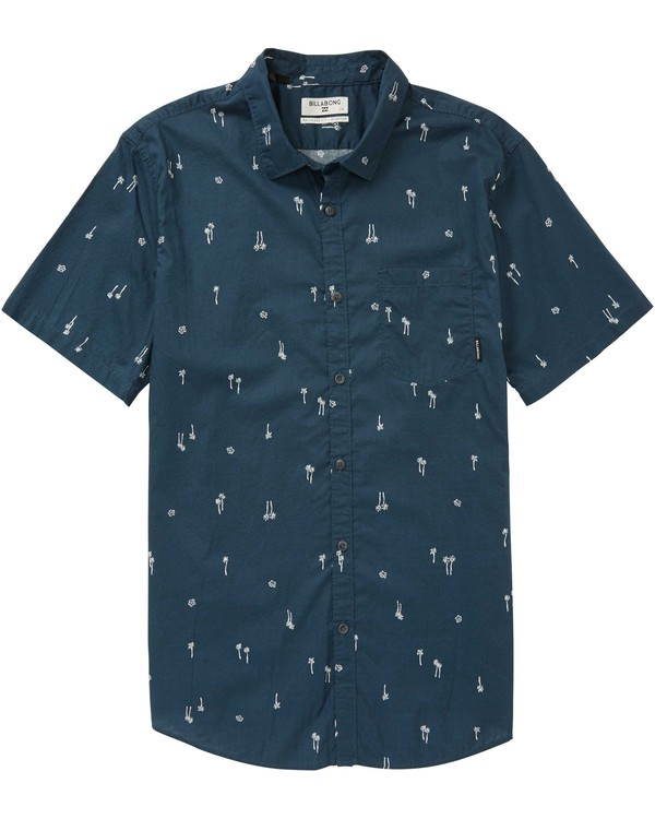 0 Boys' (2-7) Sundays Mini Short Sleeve Shirt Blue K508PBSM Billabong
