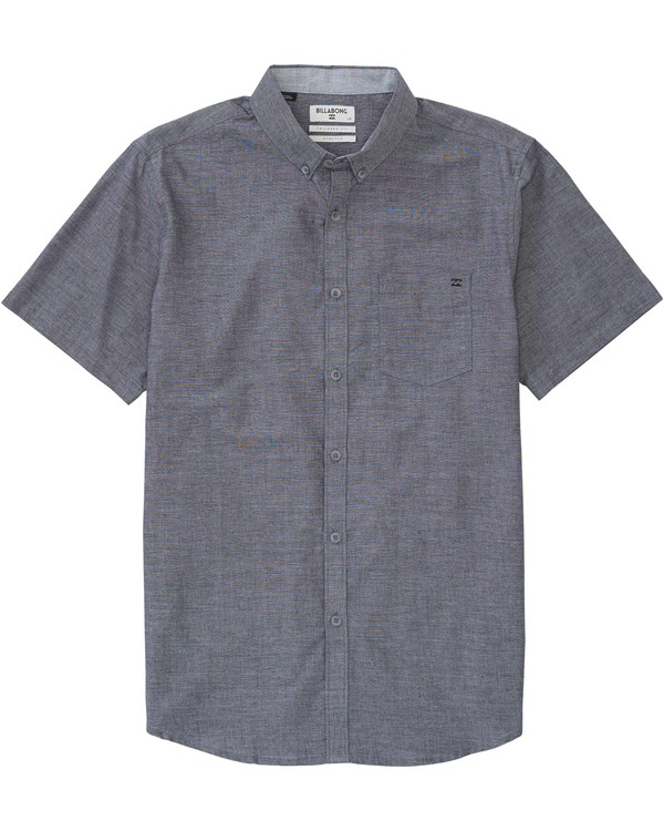 0 Boys (2-7) All Day Chambray Short Sleeve Shirt  K518JALL Billabong