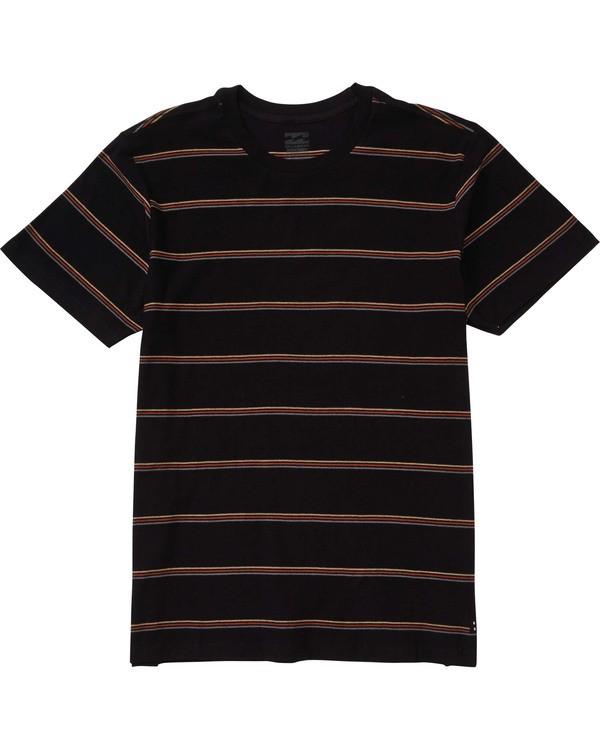 0 Boys' (2-7) Die Cut Stripe Short Sleeve Crew Black K905TBDI Billabong