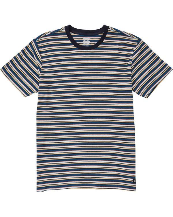 0 Boys' (2-7) Die Cut Stripe Short Sleeve Crew Blue K905TBDI Billabong