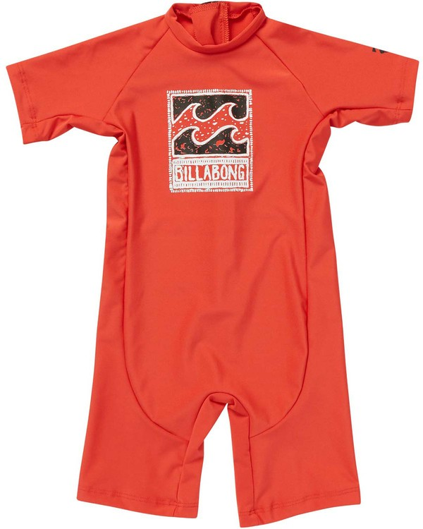 0 Toddlers Unity One Piece Rashguard Red KR89NBUN Billabong