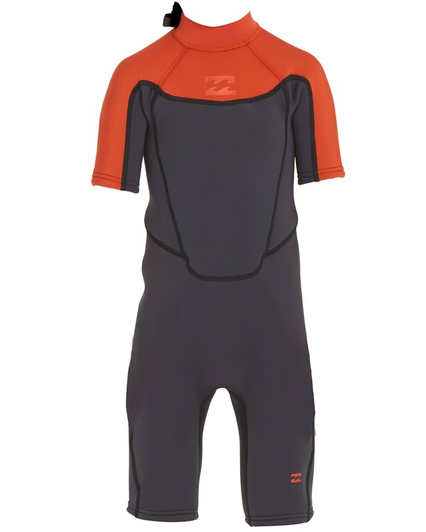 0 Boys' (2-7) 2/2 Absolute Back Zip Springsuit Orange KWSPNBBS Billabong
