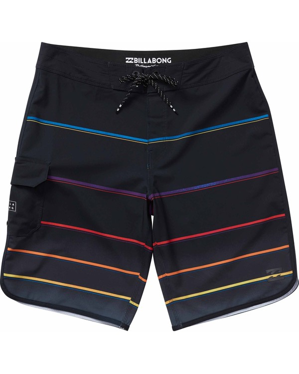 0 73 X Stripe Boardshorts Black M129NBSS Billabong