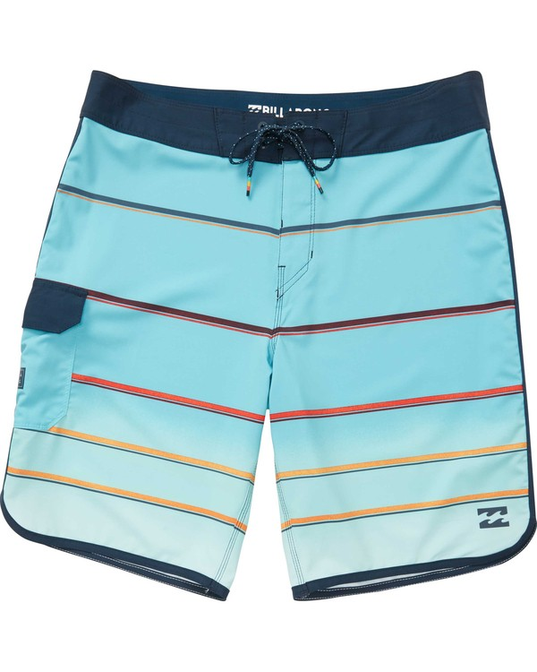0 73 X Stripe Boardshorts Green M129NBSS Billabong