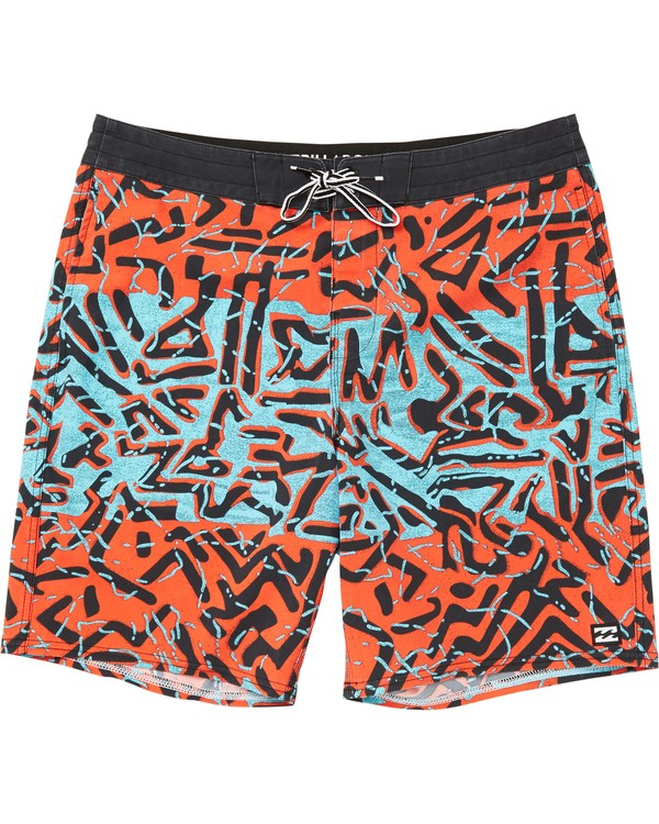 0 Sundays Lo Tides Boardshorts Red M142NBSU Billabong
