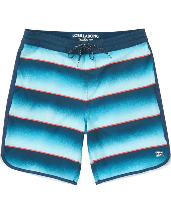 0 73 Lo Tides Lineup Boardshorts Blue M147NBST Billabong